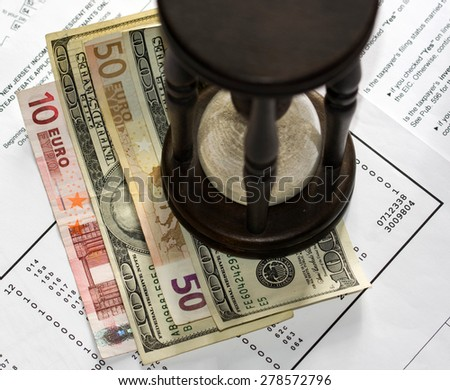 Audit the financial report of a company - stock photo