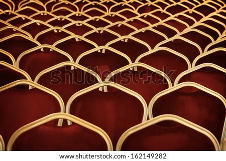 Auditorium empty seats - stock photo