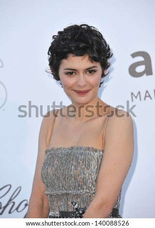 Audrey Tautou at amfAR's 20th Cinema Against AIDS Gala at the Hotel du Cap d'Antibes, France May 23, 2013  Antibes, France