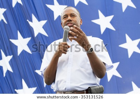 AUGUST 8, 2015-DES MOINES, IA  Ben Carson  at Family Festival in Des Moines