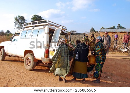 August 5, 2014-Pomerini-Tanzania-Africa-The intervention of help and support of the Franciscan Friars-NPO Mawaki-population of the immense territory of southern Tanzania-Transport hospital in Iringa