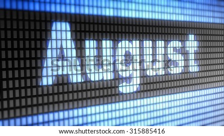 August sign - stock photo