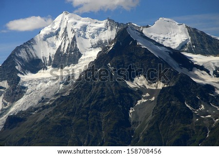 AUGUST 2009 - SWITZERLAND: the Weisshorn and the Bishorn in the Swiss Alps.
