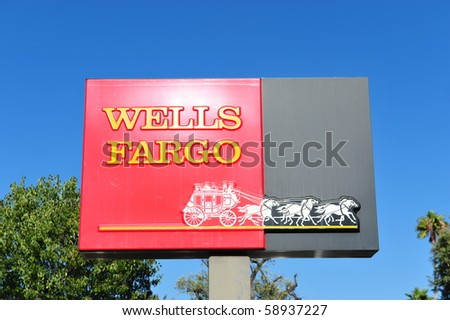AUGUST 10: Wells Fargo Loses Ruling on Overdraft Fees August 10, 2010 in San Francisco, CA - stock photo