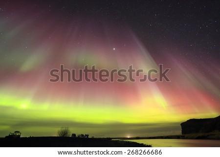 Aurora Borealis, Northern Lights  - stock photo