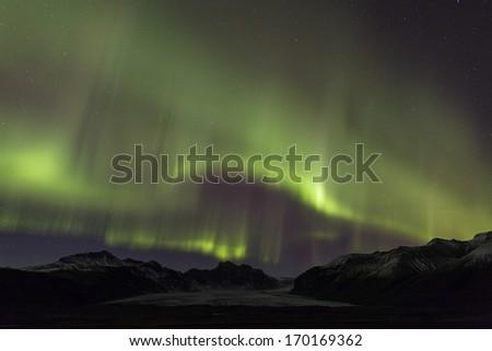 Aurora in Iceland - stock photo