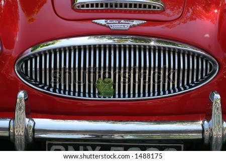 Austin Healey Grille - stock photo