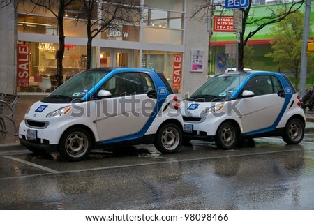 Austin, TX - March 9: SXSW Interactive Conference in Austin. Car2Go has special parking. - stock photo