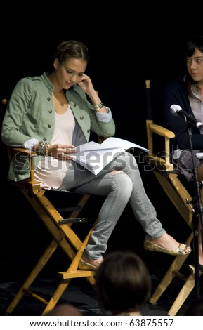 AUSTIN,TX - OCTOBER 24: Actress Jessica Alba at the ' The Hand Job ' Script Reading at the Rollins Theatre during the 17th Annual Austin Film Festival on October 24, 2010 in Austin, TX. - stock photo