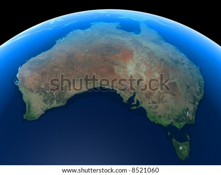 Australia as seen from Space - stock photo