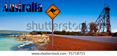 Australia Banner Panorama - stock photo