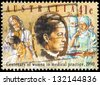 AUSTRALIA - CIRCA 1990: A Stamp printed in AUSTRALIA shows Dr. Constance Stone (first Australian Woman Doctor), Modern Doctor and Nurses, circa 1990 - stock photo