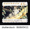 AUSTRALIA - CIRCA 1992: A stamp printed in Australia shows squirrel, circa 1992 - stock photo