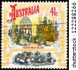 AUSTRALIA - CIRCA 1990: A Stamp printed in AUSTRALIA shows the Stock Exchange, Colonial Development, Boomtime series, circa 1990 - stock photo