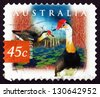 AUSTRALIA - CIRCA 1997: a stamp printed in the Australia shows Comb-crested Jacana, Irediparra Gallinacea, Tropical Wader, circa 1997 - stock photo