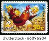 AUSTRALIA - CIRCA 2005: stamp printed by Australia, shows Hen and chicks, circa 2005 - stock photo