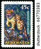 AUSTRALIA - CIRCA 1997: stamp printed by Australia, shows spotted-tail quoll, circa 1997 - stock photo