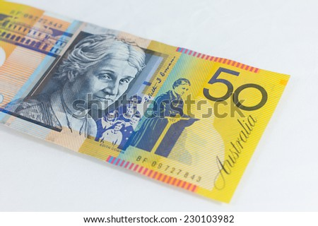 Australia Dollar, Bank note of Australia - stock photo