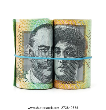 Australia Dollar, Bank note of Australia on white background