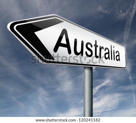 Australia down under continent tourism holiday vacation economy country - stock photo