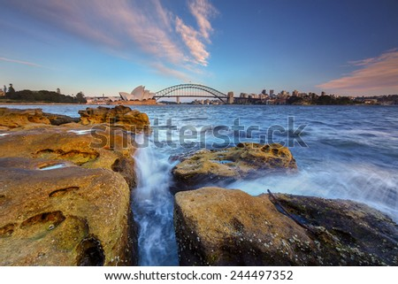 Australia during daylight, Image has grain or noise and soft focus when view at full resolution(Shallow DOF, slight motion blur). - stock photo