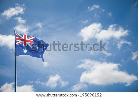 Australia flag - stock photo
