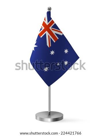 Australia flag - table flag - stock photo