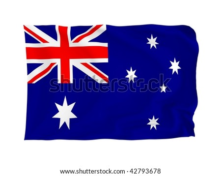 Australia. High resolution Oceania Flag series. With fabric texture.
