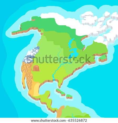 Australia mainland cartoon relief map mountains stock illustration australia mainland cartoon relief map with mountains climate zones oceans seas and islands gumiabroncs