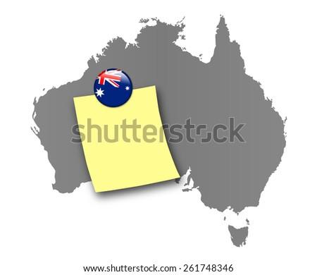 Australia pin board  - stock photo