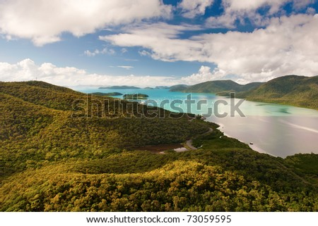 Australia's Whitsunday Islands - stock photo