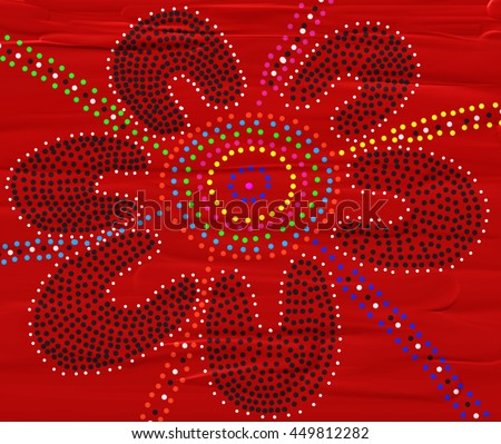 Australian Aboriginal Dot Painting Meeting Place