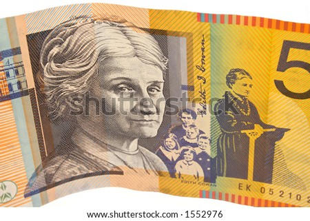 Australian $50 bill - stock photo
