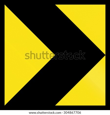 Australian chevron alignment pointing to the left. - stock photo