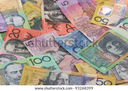 Australian currency background - stock photo