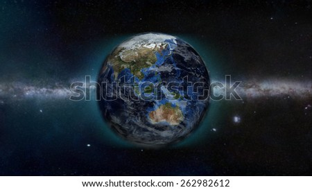 Australian Day (Elements of this image furnished by NASA) - stock photo