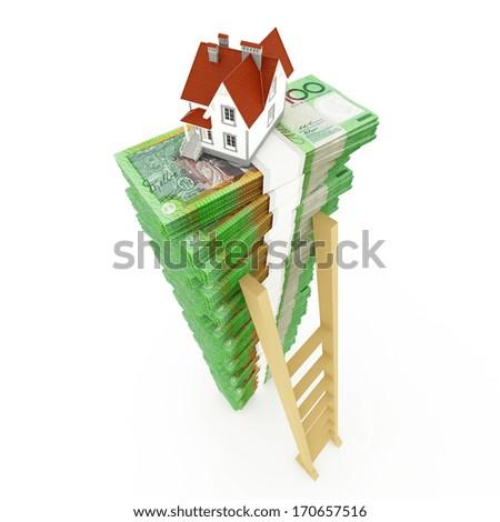 Australian dollar stack - stock photo