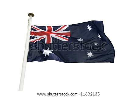 Australian flag isolated on a white background