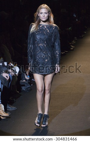 Australian Model Cheyenne Tozzi walks the runway during Naomi Campbell's Fashion For Relief Show at Mercedes Benz Fashion Week Fall Winter 2015 in New York on February 14, 2015 - stock photo