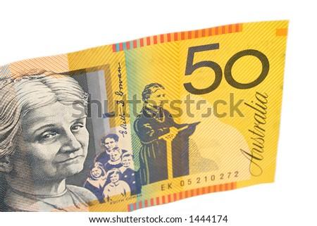 Australian $50 note - stock photo