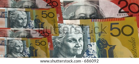 Australian notes $50 and $20