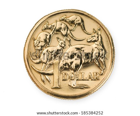 Australian one dollar coin currency - stock photo