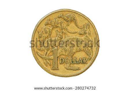 Australian one dollar coin 1994 tail - stock photo