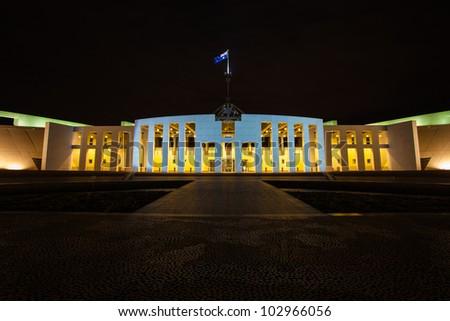 Australian parlament house in Canberra, Australia - stock photo