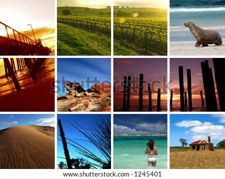Australian Scenes - stock photo