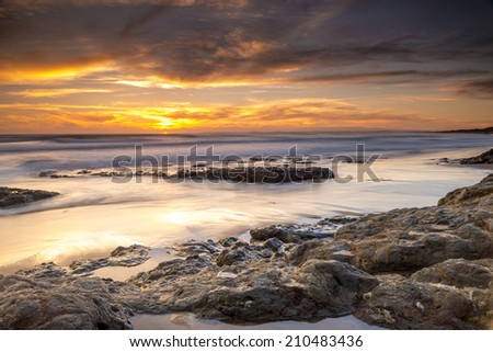 australian seascape at sunrise - stock photo