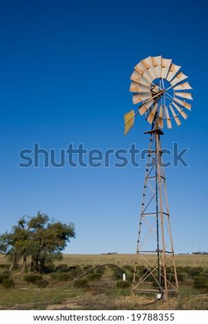 Australian windmill - stock photo