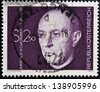 AUSTRIA - CIRCA 1974: A stamp printed in Austria shows Arnold Schonberg, composer, circa 1974 - stock photo