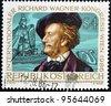 AUSTRIA - CIRCA 1986: A stamp printed in Austria shows Richard Wagner, circa 1986 - stock photo