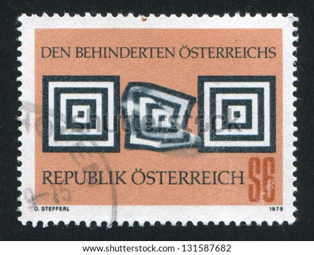 AUSTRIA - CIRCA 1978: stamp printed by Austria, shows  �¢??Aid to the Handicapped�¢?�, circa 1978 - stock photo